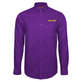Red House Purple Long Sleeve Shirt-Primary Mark - Athletics