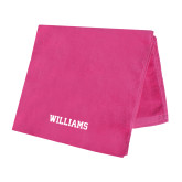 Pink Beach Towel-Primary Mark - Athletics