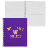 College Spiral Notebook w/Clear Coil-Williams College w/ W