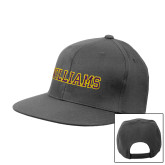 Charcoal Flat Bill Snapback Hat-Primary Mark - Athletics