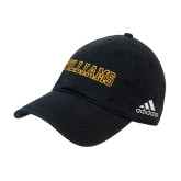 Adidas Black Slouch Unstructured Low Profile Hat-Primary Mark - Athletics