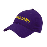 Purple Twill Unstructured Low Profile Hat-Primary Mark - Athletics