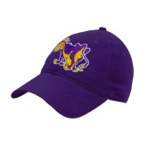 Purple Twill Unstructured Low Profile Hat-Mascot
