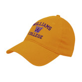 Gold Twill Unstructured Low Profile Hat-Williams College w/ W