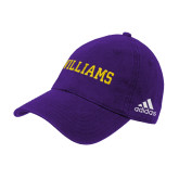 Adidas Purple Slouch Unstructured Low Profile Hat-Primary Mark - Athletics