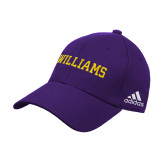 Adidas Purple Structured Adjustable Hat-Primary Mark - Athletics
