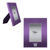 Purple Brushed Aluminum 3 x 5 Photo Frame-W  Engraved