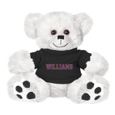 Plush Big Paw 8 1/2 inch White Bear w/Black Shirt-Primary Mark - Athletics