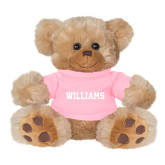 Plush Big Paw 8 1/2 inch Brown Bear w/Pink Shirt-Primary Mark - Athletics