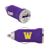 On the Go Purple Car Charger-W