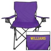 Deluxe Purple Captains Chair-Primary Mark - Athletics