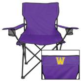 Deluxe Purple Captains Chair-W