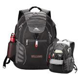 High Sierra Big Wig Black Compu Backpack-Primary Mark - Athletics