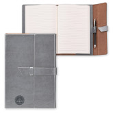 Fabrizio Junior Grey Portfolio w/Loop Closure-WMU Seal Engraved