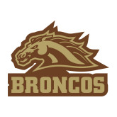 Medium Decal-Broncos w/ Bronco Head, 8 inches wide