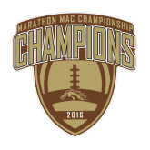 Medium Decal-2016 Marathon MAC Football Champions, 8 inches wide