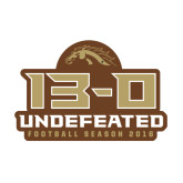 Medium Decal-13-0 Undefeated Football Season 2016, 8 inches wide