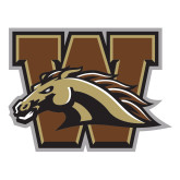Large Decal-W w/ Bronco, 12 inches wide