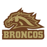 Large Decal-Broncos w/ Bronco Head, 12 inches wide