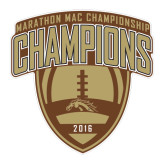 Large Decal-2016 Marathon MAC Football Champions, 12 inches wide