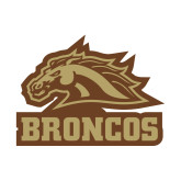 Small Decal-Broncos w/ Bronco Head, 6 inches wide