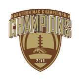 Small Decal-2016 Marathon MAC Football Champions, 6 inches wide
