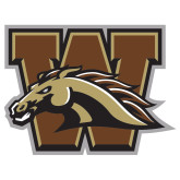 Extra Large Decal-W w/ Bronco, 18 inches wide