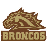 Extra Large Decal-Broncos w/ Bronco Head, 18 inches wide