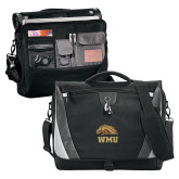Slope Black/Grey Compu Messenger Bag-WMU w/ Bronco Head