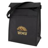 Koozie Black Lunch Sack-WMU w/ Bronco Head