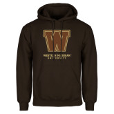 Brown Fleece Hoodie-Western Michigan University w/ W