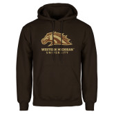 Brown Fleece Hoodie-Western Michigan University w/ Bronco Head