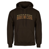 Brown Fleece Hoodie-Arched Western Michigan Broncos