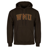Brown Fleece Hoodie-Arched WMU