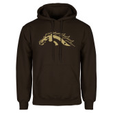 Brown Fleece Hoodie-Football