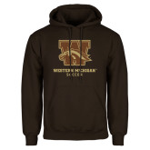 Brown Fleece Hoodie-Soccer