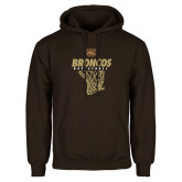 Brown Fleece Hoodie-Broncos Basketball Hanging Net