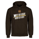 Brown Fleece Hoodie-Western Michigan Broncos Hockey