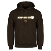 Brown Fleece Hoodie-WMU Broncos Baseball w/ Flying Ball