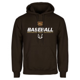 Brown Fleece Hoodie-Western Michigan University Baseball Flat