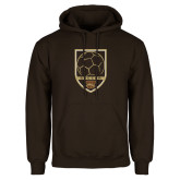 Brown Fleece Hoodie-Soccer Shield