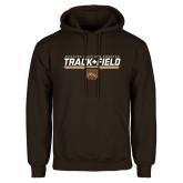 Brown Fleece Hoodie-Track & Field Flat w/ Bar
