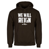Brown Fleece Hoodie-We Will Reign