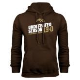 Brown Fleece Hoodie-Undefeated Season Football 2016