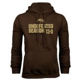 Brown Fleece Hoodie-Undefeated Season 13-0 Football 2016