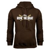 Brown Fleece Hood-Row the Boat