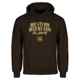 Brown Fleece Hoodie-Arched Western Michigan Alumni