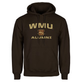 Brown Fleece Hoodie-Arched WMU Alumni