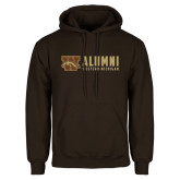 Brown Fleece Hoodie-Western Michigan Alumni Stacked