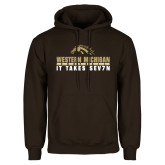 Brown Fleece Hoodie-It Takes Sev7n